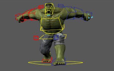 Creando a Hulk Vol. 3 Rigging