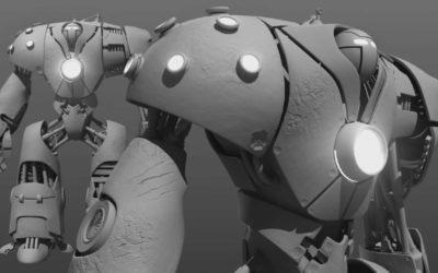 Creando un robot en Maya y ZBrush
