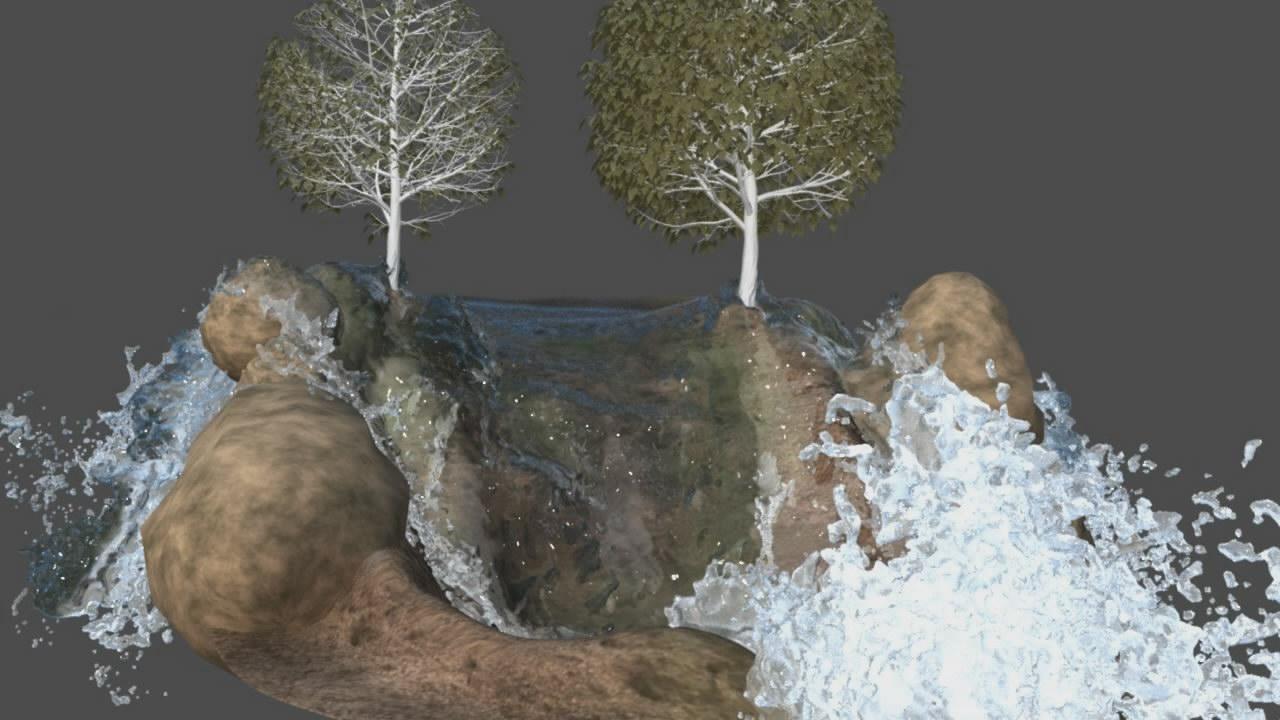 Creando una cascada en Maya con Bifrost