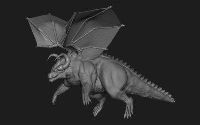 Esculpiendo un dragón en ZBrush