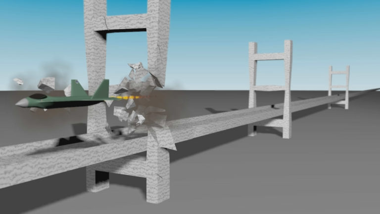 Rompiendo un puente en Maya con Bullet