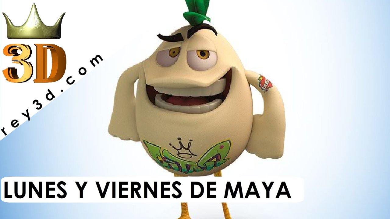 Modelando un personaje para animación en Maya – Patín Patán