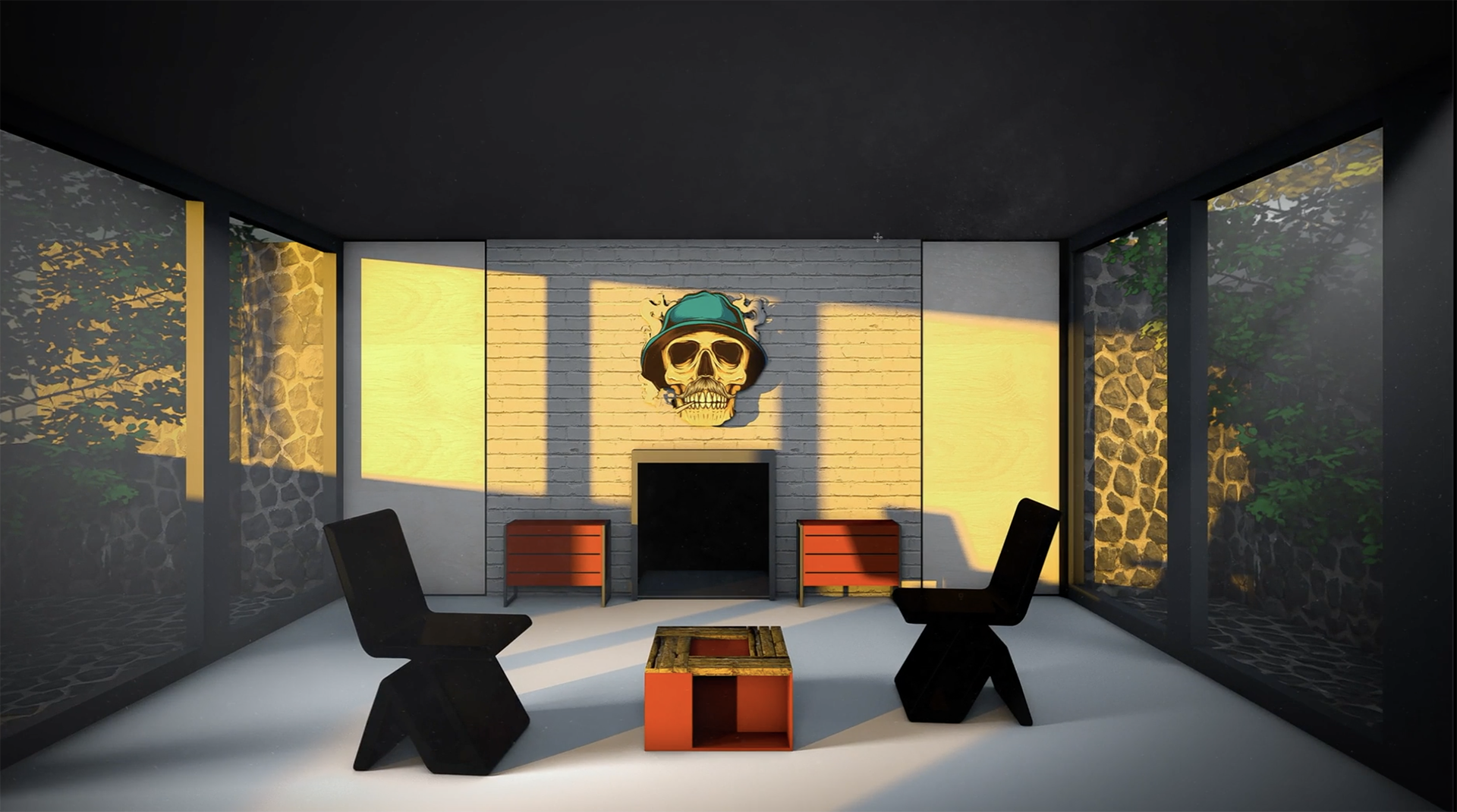 Modela, texturiza, ilumina y renderiza una sala realista con Cinema 4D