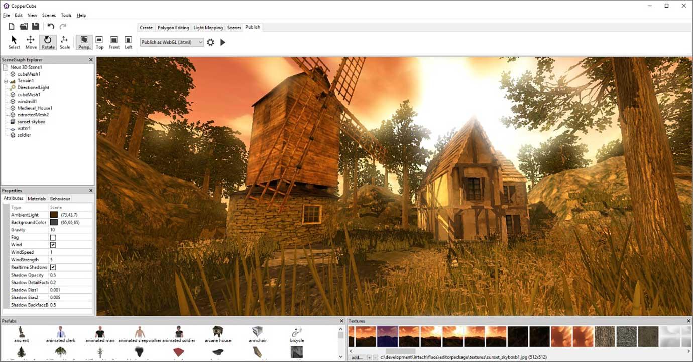 CopperCube: videjuegos y apps 3D sin programación ni modelar