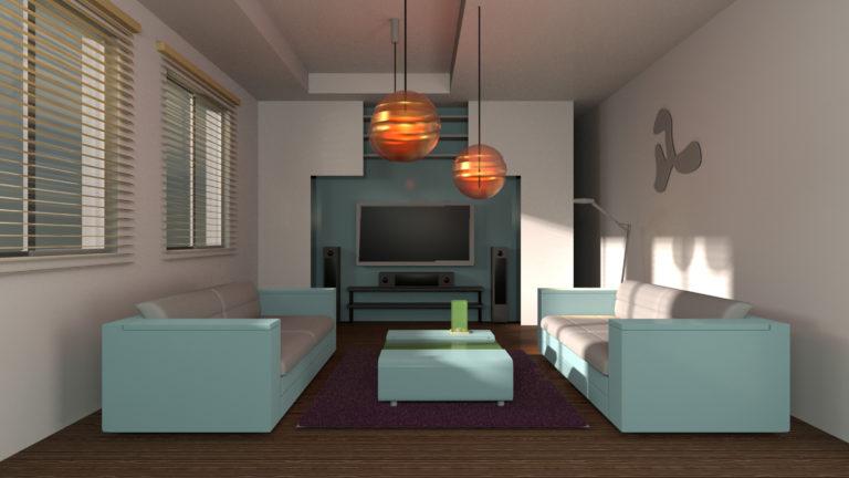 Iluminación y materiales en escenas de interior con Arnold