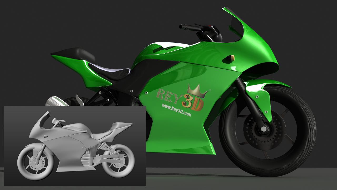 PACK 2 en 1 – Modelando y texturizando una motocicleta en Maya + Render con mental ray
