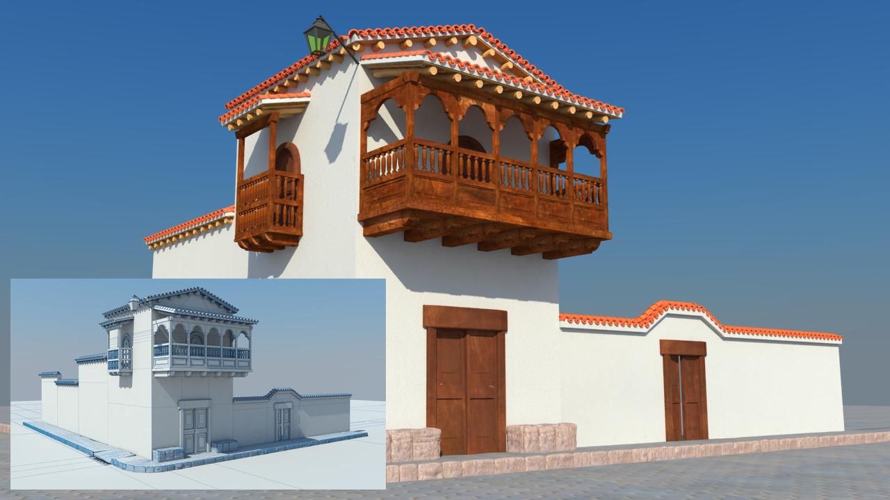 PACK 2 en 1 – Modelando y texturizando una escena exterior en Maya + Render con V-Ray