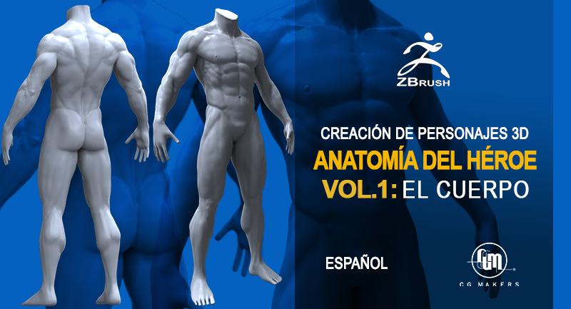 Anatomía del cuerpo masculino para personajes 3D con ZBrush