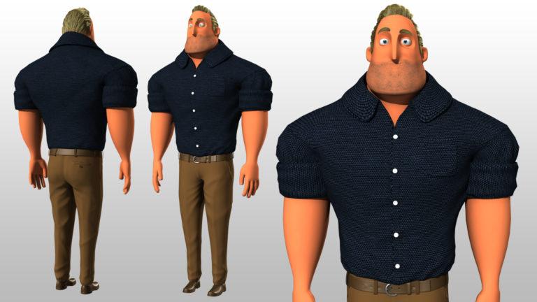 Creación de personajes cartoon para animación en Maya